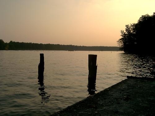 Langer See im Abendlicht