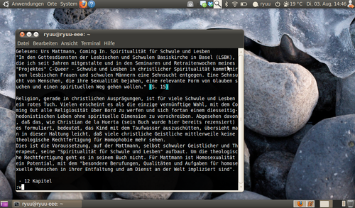 Screenshot vom vim