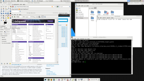 ArchLinux - ein Screenshot