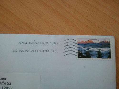 Post aus Kalifornien